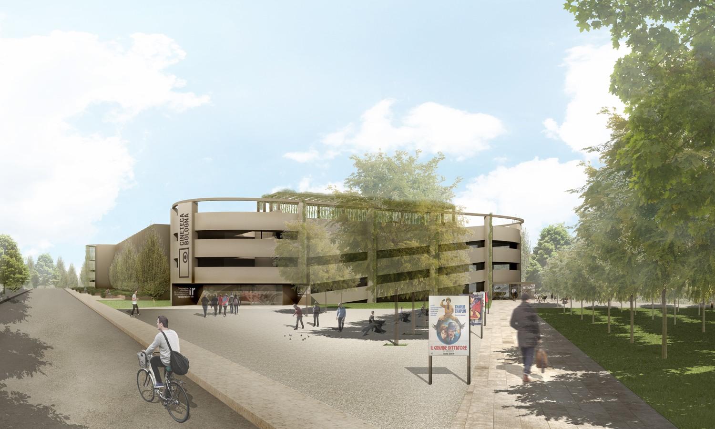 Vista della piazza d'ingresso / Entrance public square view Antonio Iascone Ingegneri Architetti
