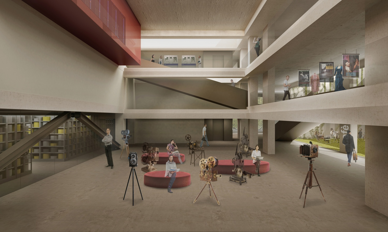 Vista dell'atrio / Hall view Antonio Iascone Ingegneri Architetti
