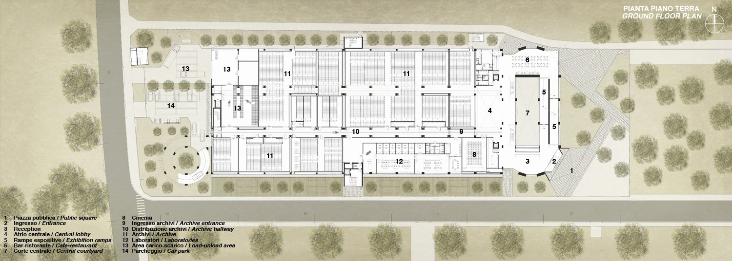 Pianta Piano Terra / Ground Floor plan Antonio Iascone Ingegneri Architetti}