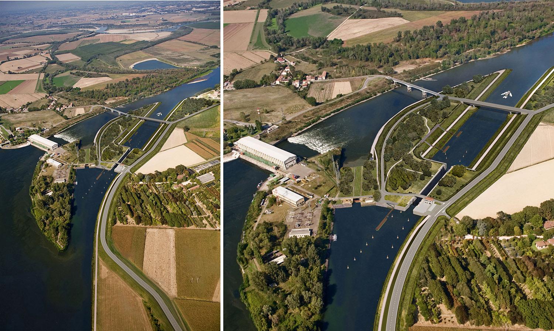 Rendering - New Navigation Lock - Isola Serafini (PC) Binini Partners}