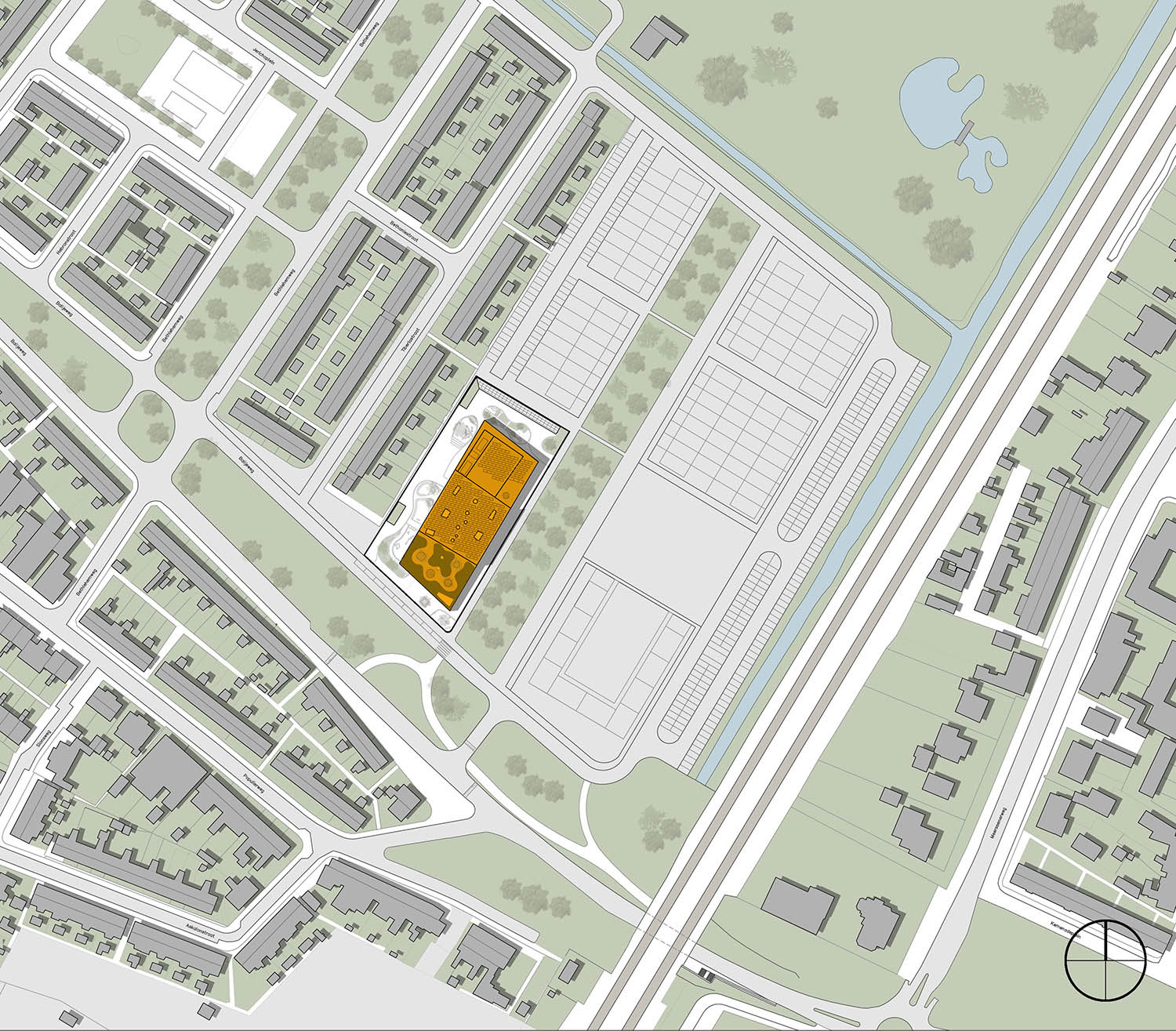 Site plan of the new school UArchitects}