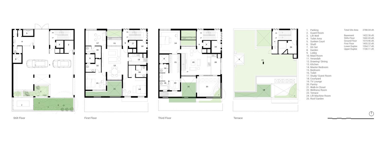 House with a Brick Veil Floor Plans Studio Lotus}