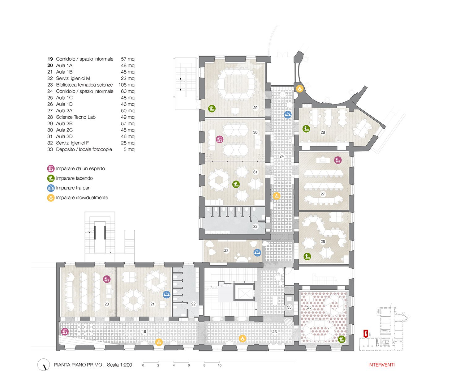 First floor plan Archisbang+Areaprogetti}