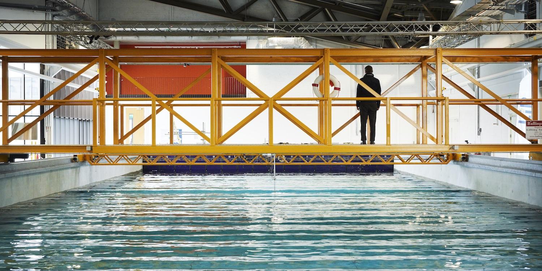 Deep water flume technical platform
