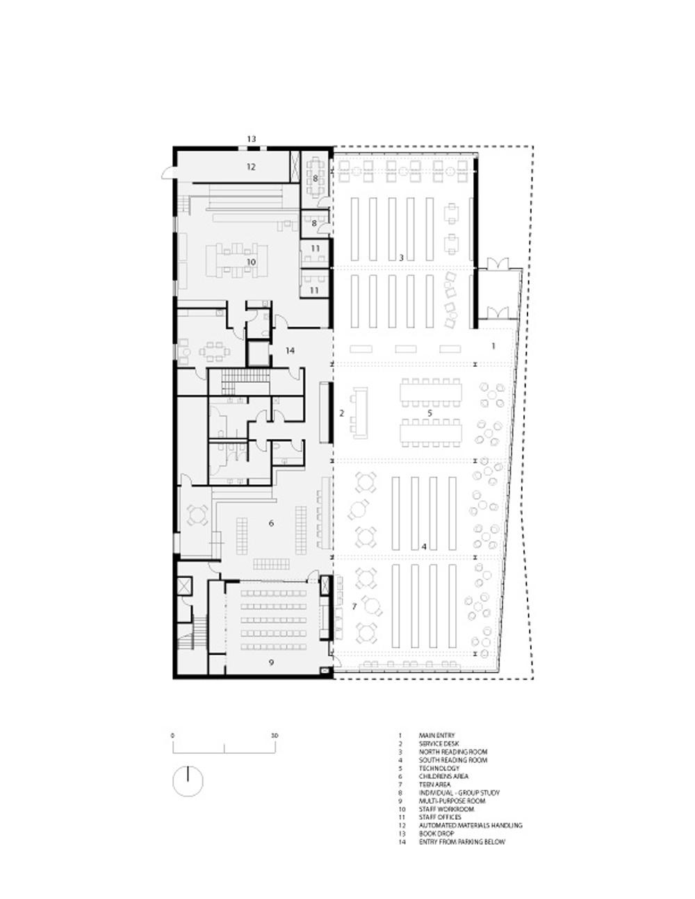 Main Level Floor Plan }