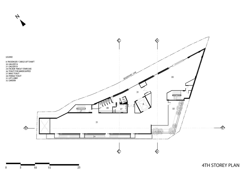 Fourth floor plan }