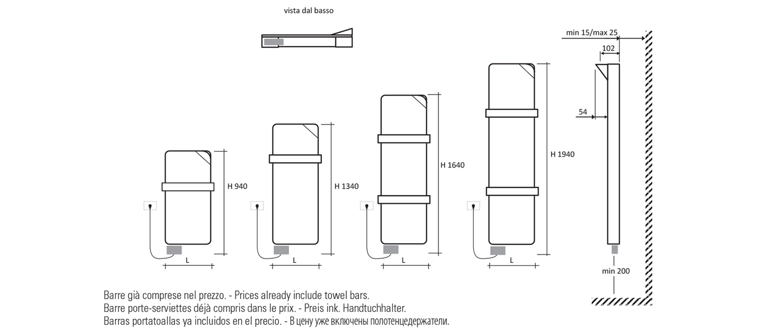 Book Bagno Electric Technical drawings © Studio Marco Piva}