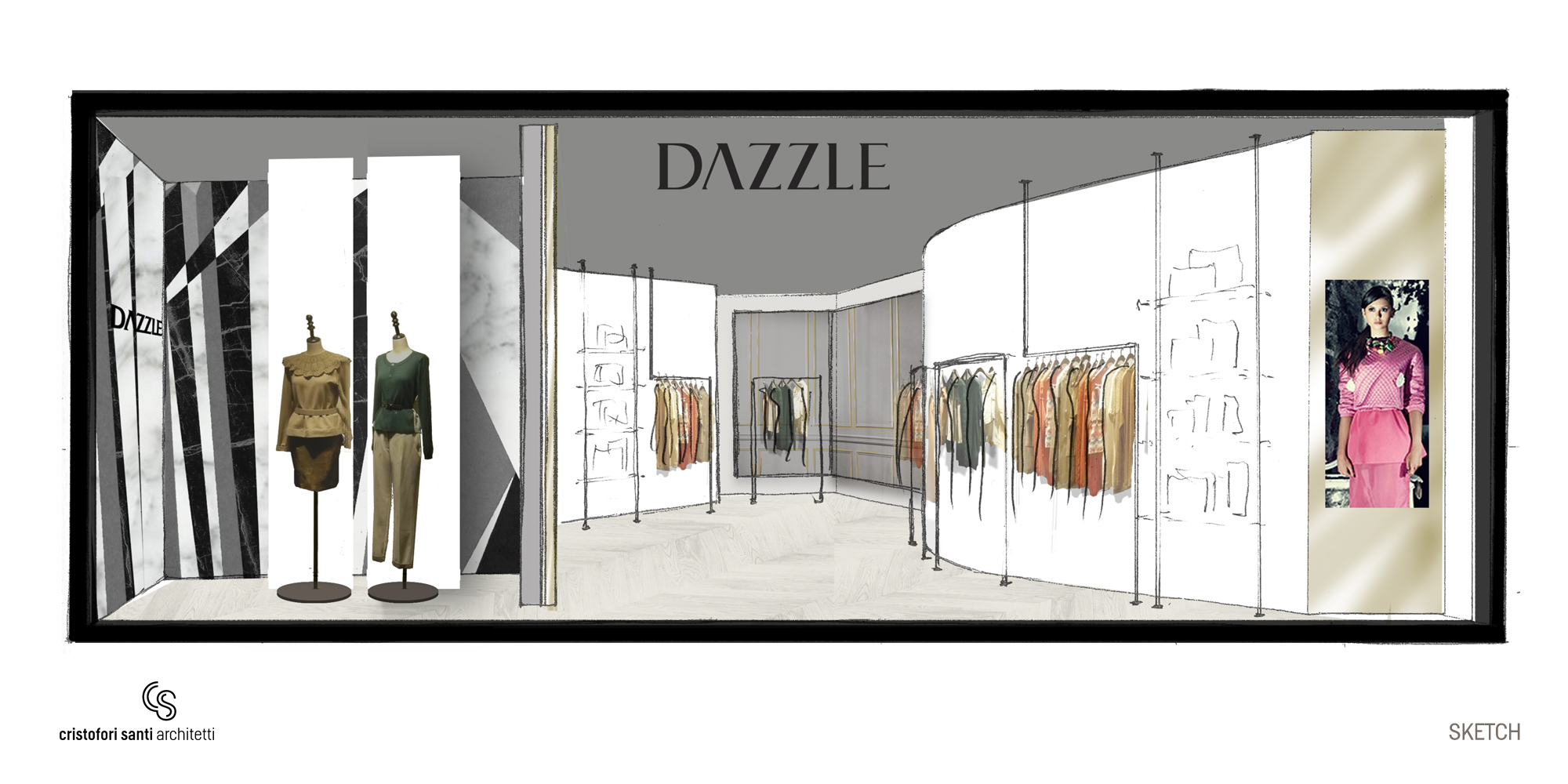 Dazzle - Sketch }