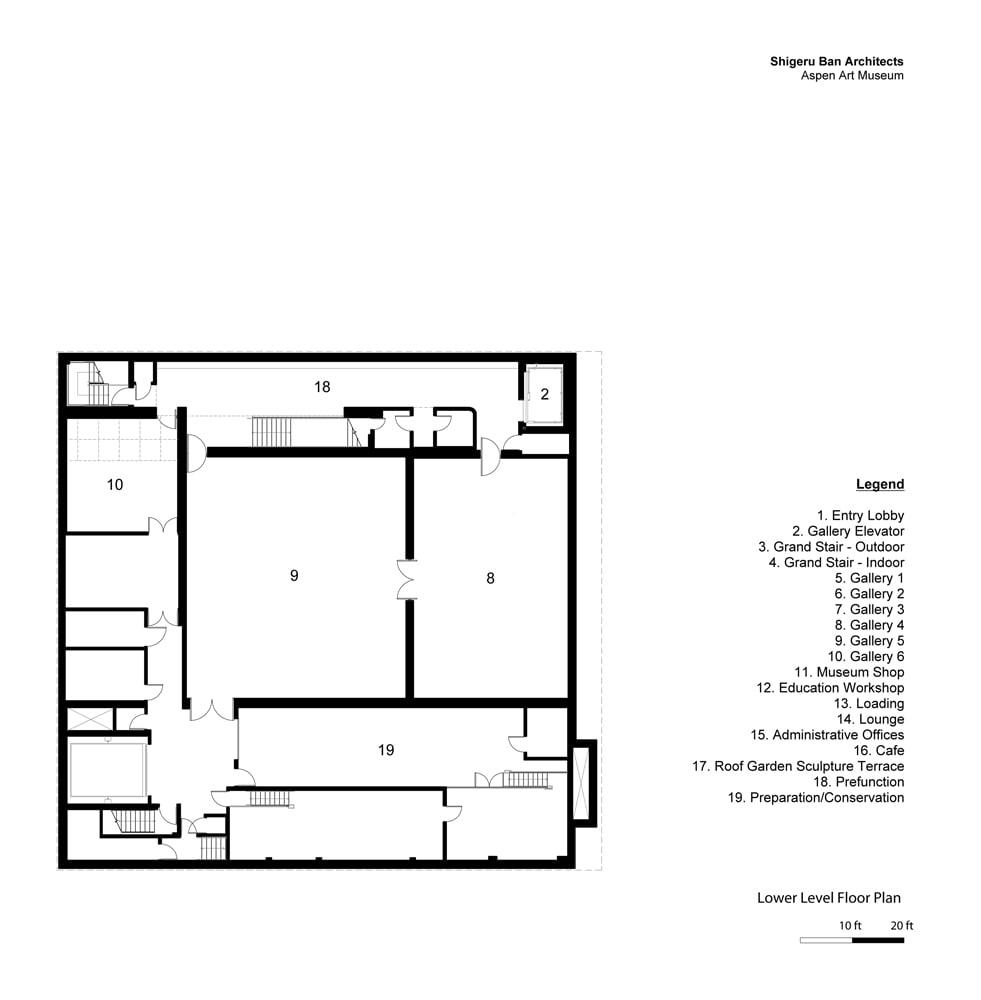 Lower Level Floor Plan }