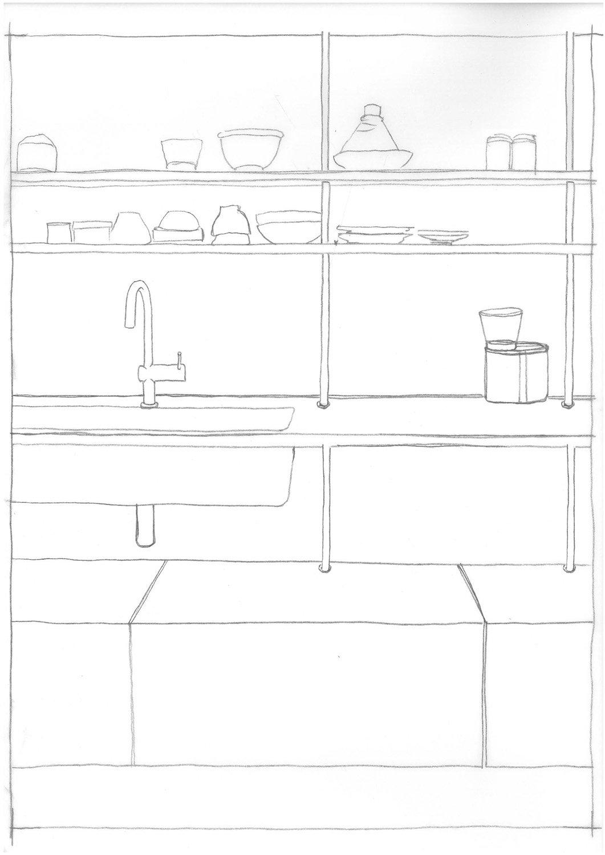 Portraits of life - Kitchen sketch }