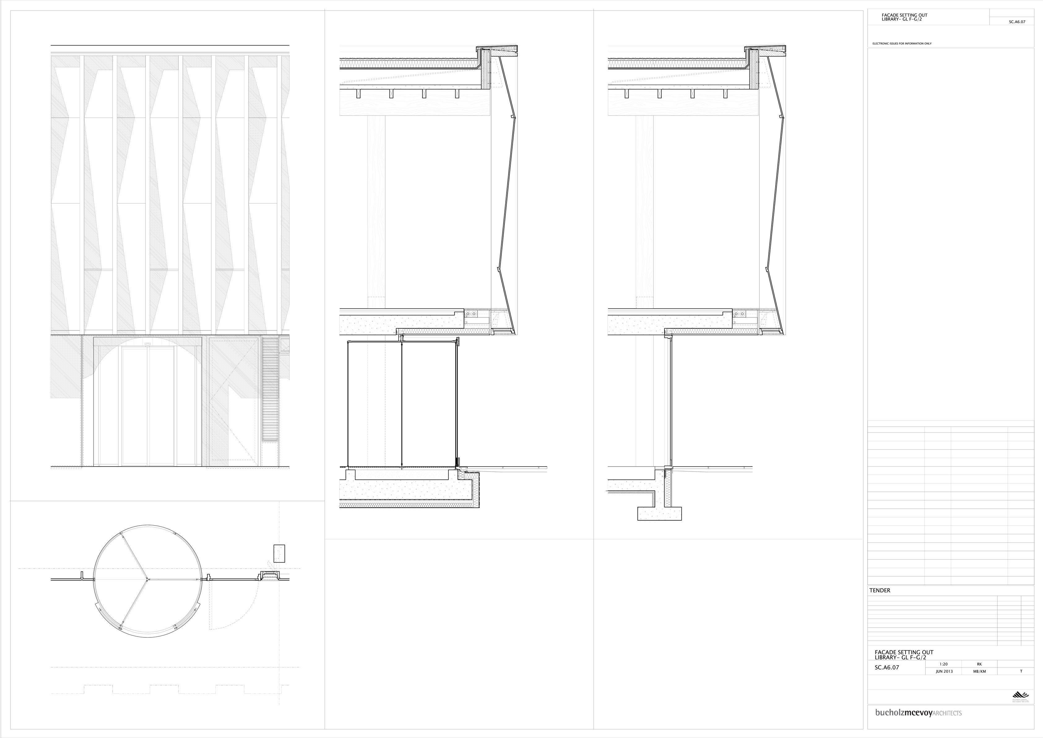 SBCC Facade Elevation & Detailed Section }