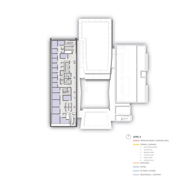 Level 4 Floor Plan © Skidmore, Owings & Merrill}