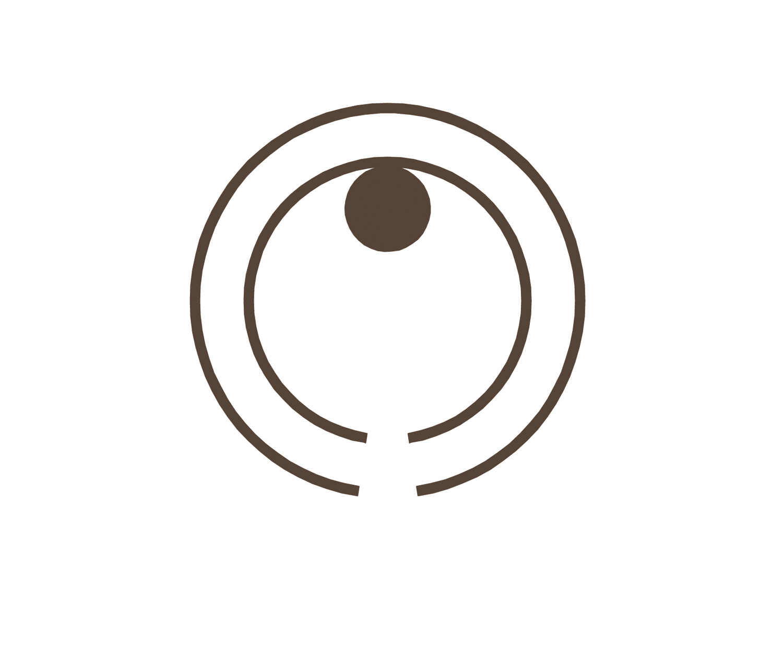 due cerchi concentrici generano  l'impianto della Chiesa,  simbolo dell'abbraccio  della Madonna delle Grazie alla comunità. }