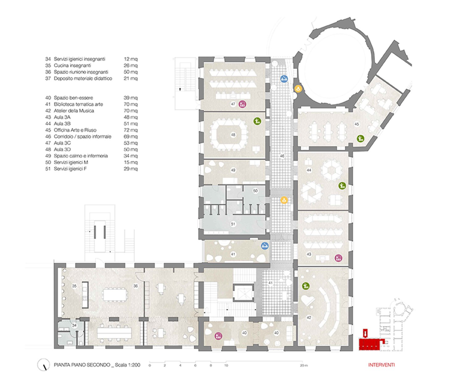 Second floor plan Archisbang+Areaprogetti}