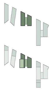 Cuatrecasas Lawyers Headquarters. Floor contours diagram }