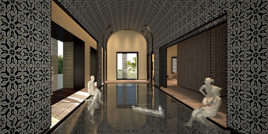 Spa in Beirut_piscina }