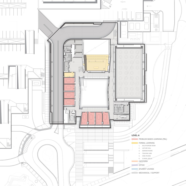 Level A Floor Plan © Skidmore, Owings & Merrill}
