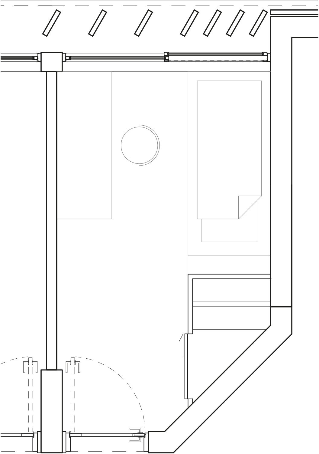 Typical floorplan single private room  gmp von Gerkan, Marg and Partners Architects}