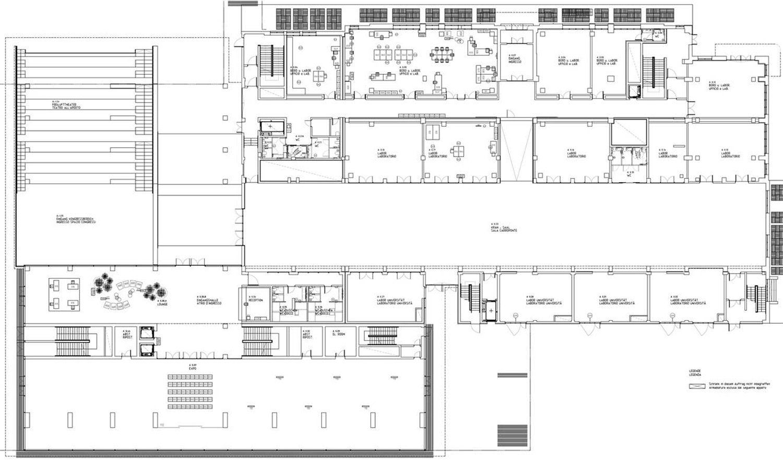 Pianta Piano Terra - Black Monolith e BZ1 Chapman Taylor, CL&AA }