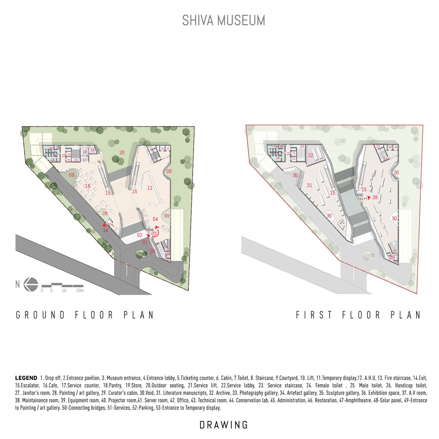 PLANS - GROUND FLOOR AND FIRST FLOOR sanjay puri architects}