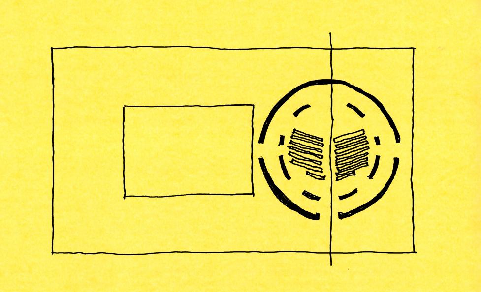 Schizzo di progetto: l'impianto planimetrico }