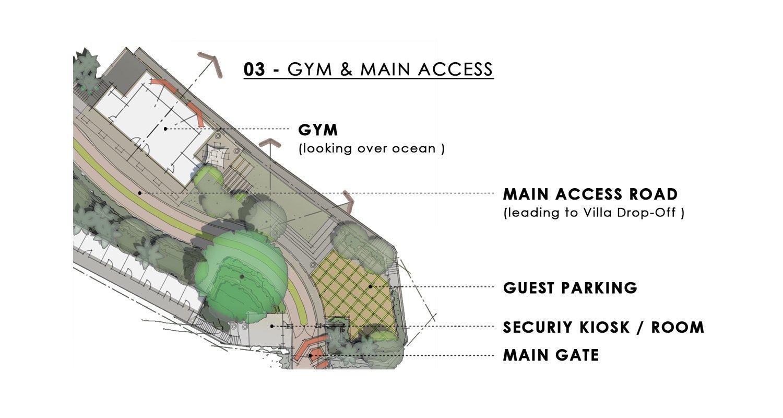 Gym & Main Access Sketch  JT+ Partners}