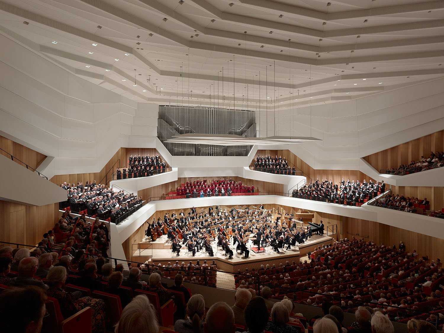 The concert hall has seating for a 1750-strong audience. Christian Gahl