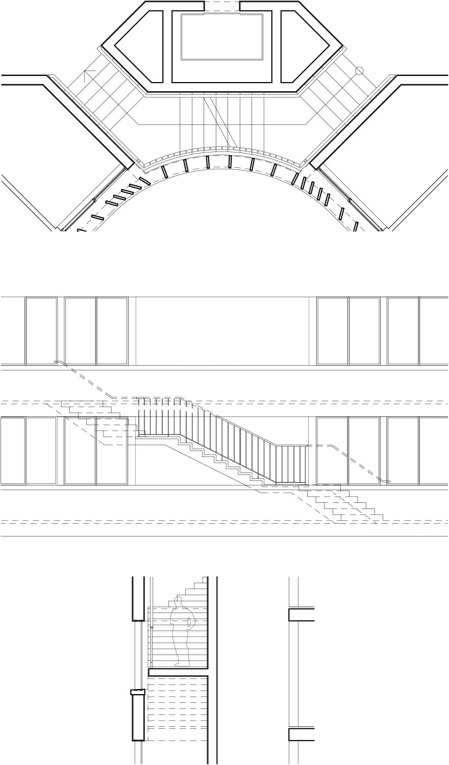 Detail building core gmp von Gerkan, Marg and Partners Architects}