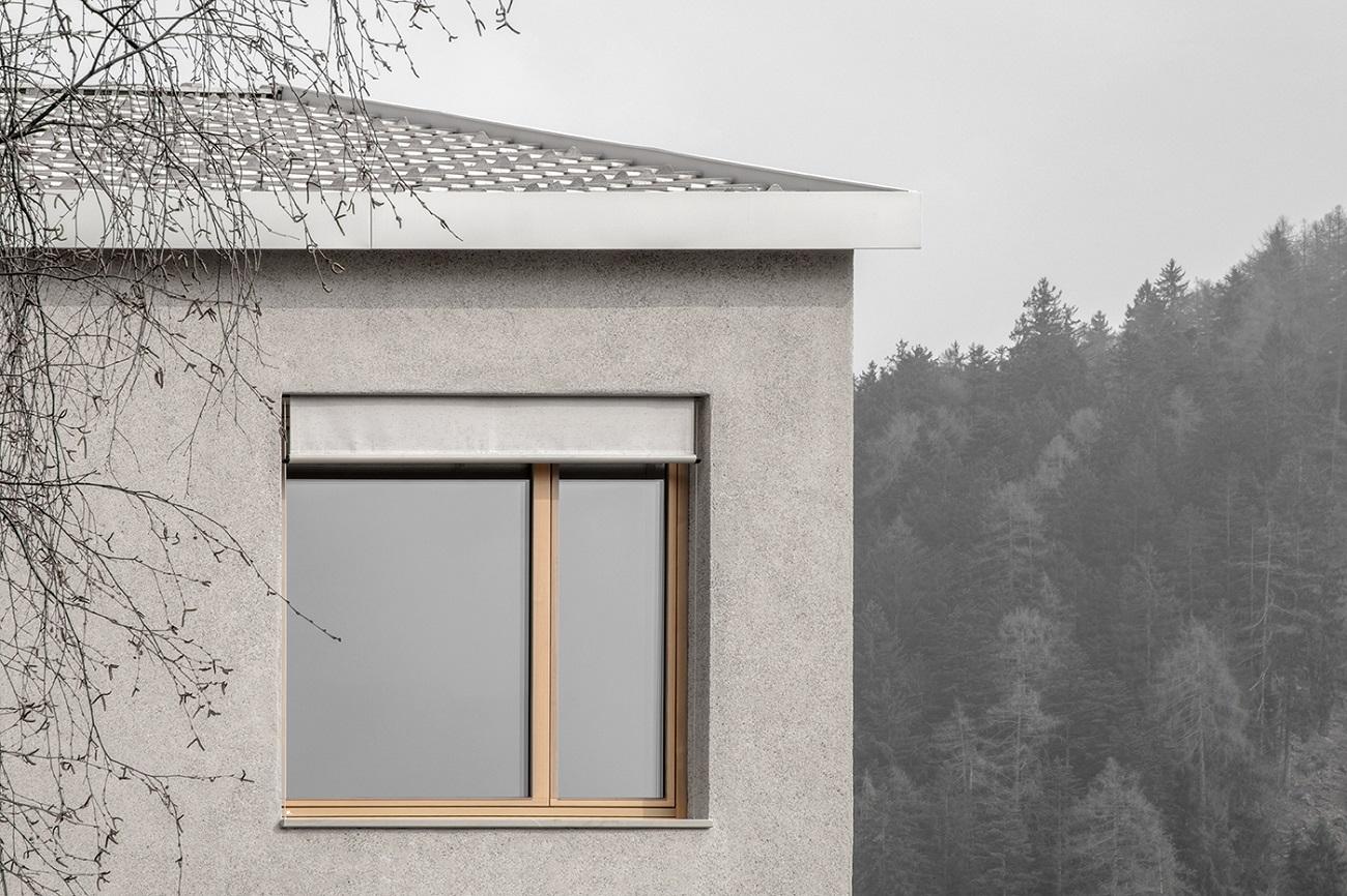 dettaglio facciata  Photo by Gustav Willeit. © Arch. Daniel Ellecosta