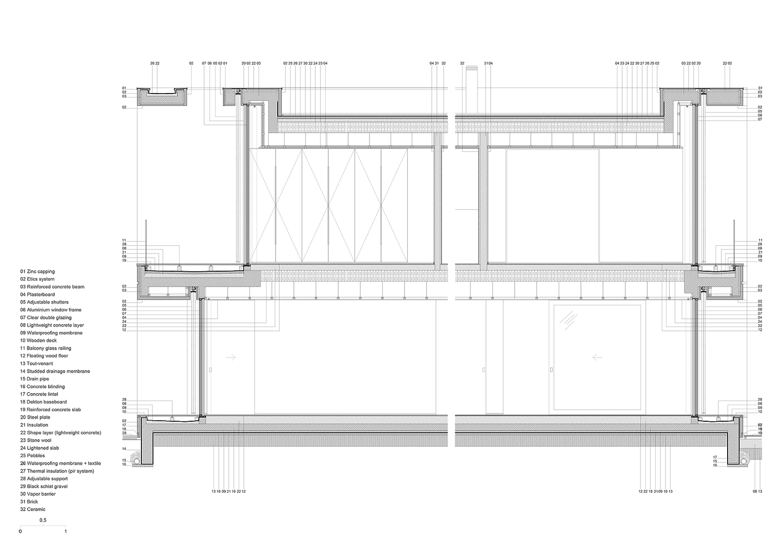 detailed cut Raulino Silva Architect}
