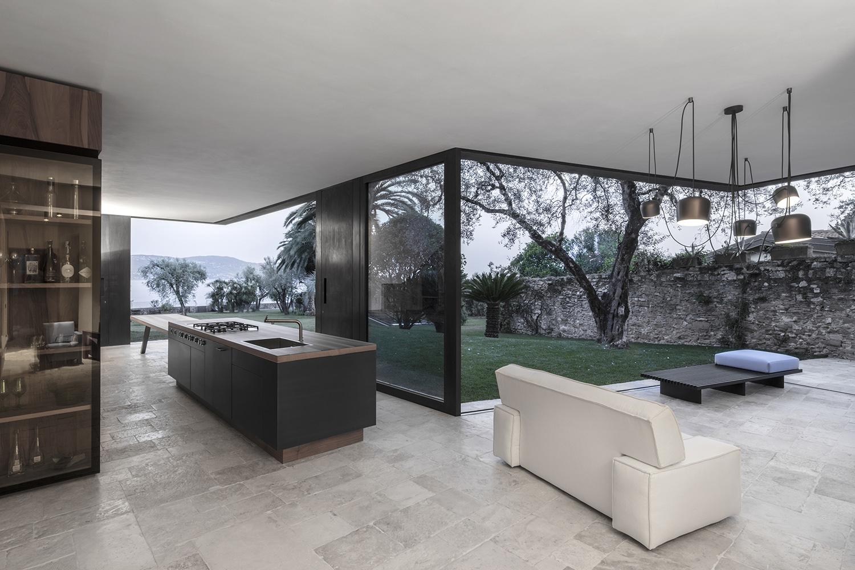 vista cucina e soggiorno gustav willeit