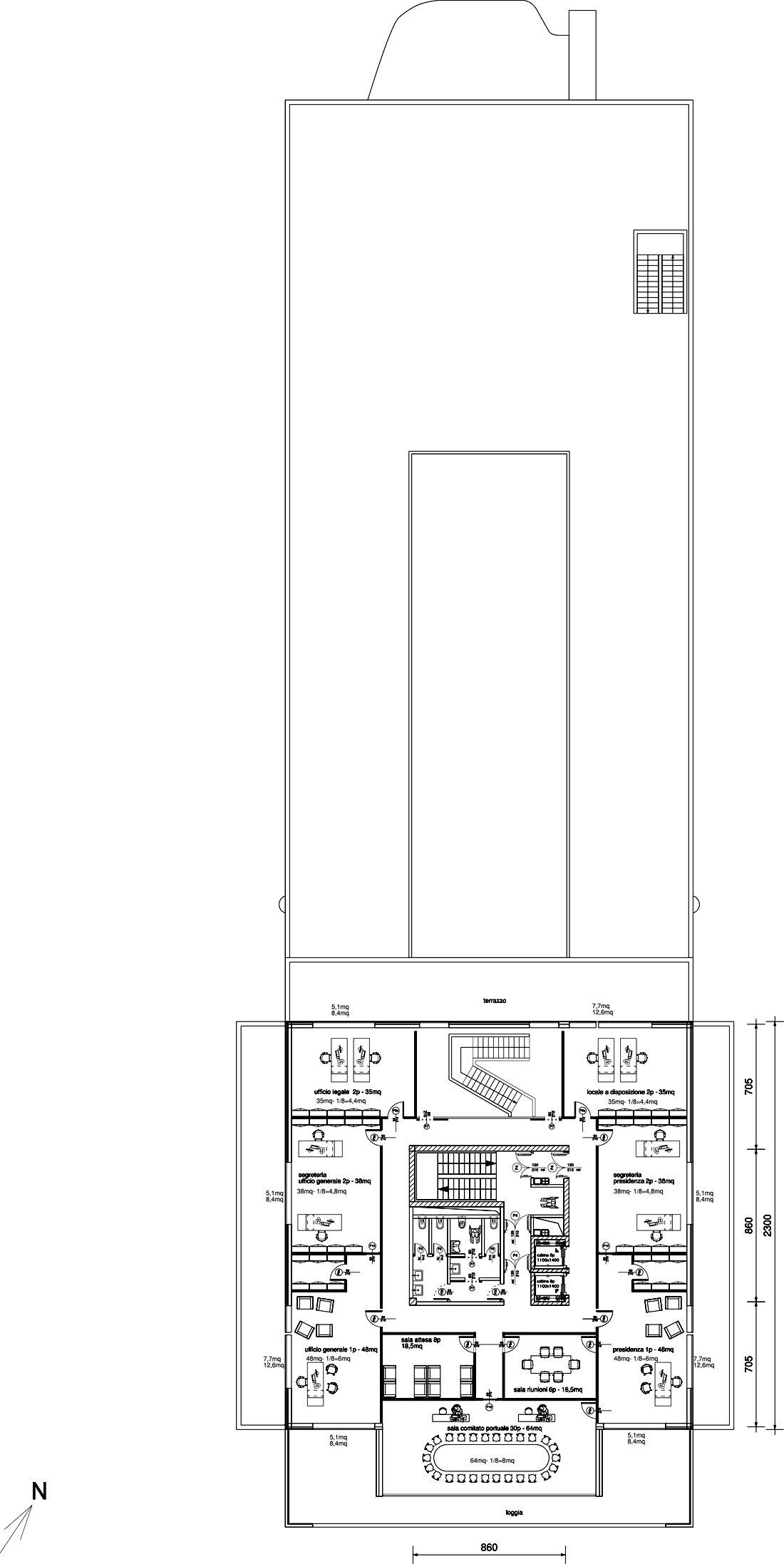 7th floor plan }
