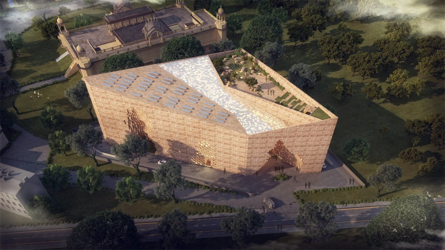 AERIAL VIEW SANJAY PURI ARCHITECTS
