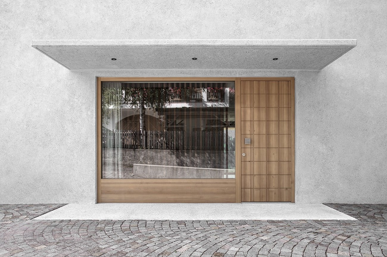 dettaglio elemento d`accesso  Photo by Gustav Willeit. © Arch. Daniel Ellecosta