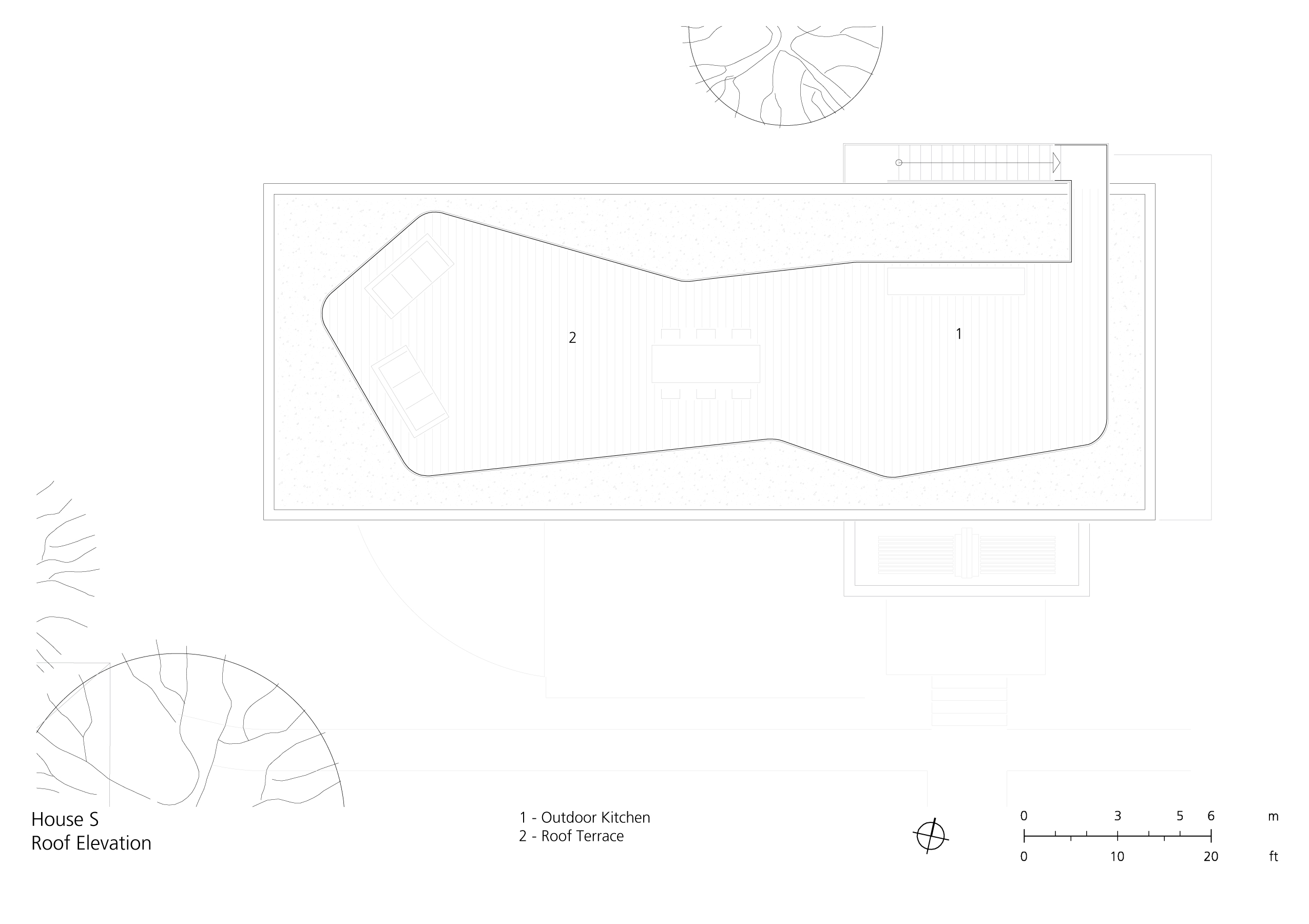 Roof elevation }