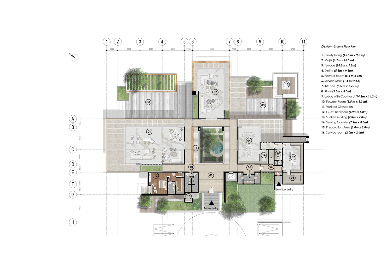 ground floor plan  JT+ Partners}