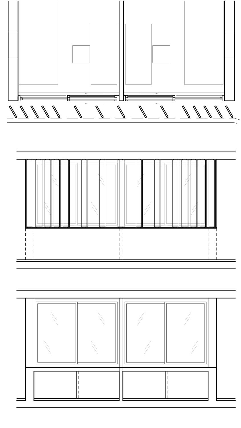 Detail facade (varying density of louvres referring to interior function) gmp von Gerkan, Marg and Partners Architects}