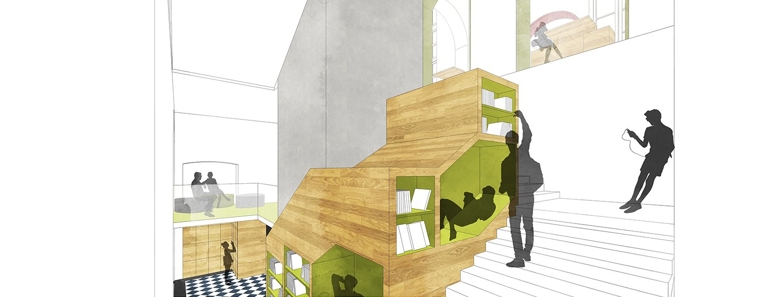 Sketch view_Stairwell library Archisbang+Areaprogetti}