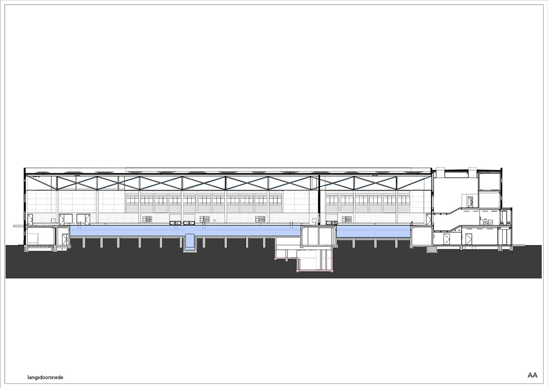 Longitudinal section © Kraaijvanger Architects}