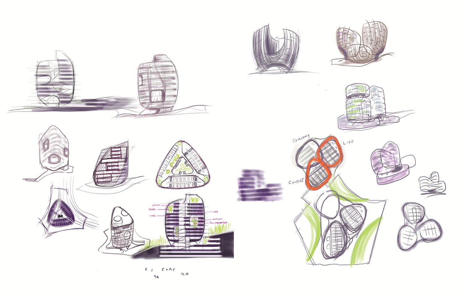 Concept Sketches Yazdani Studio of CannonDesign}
