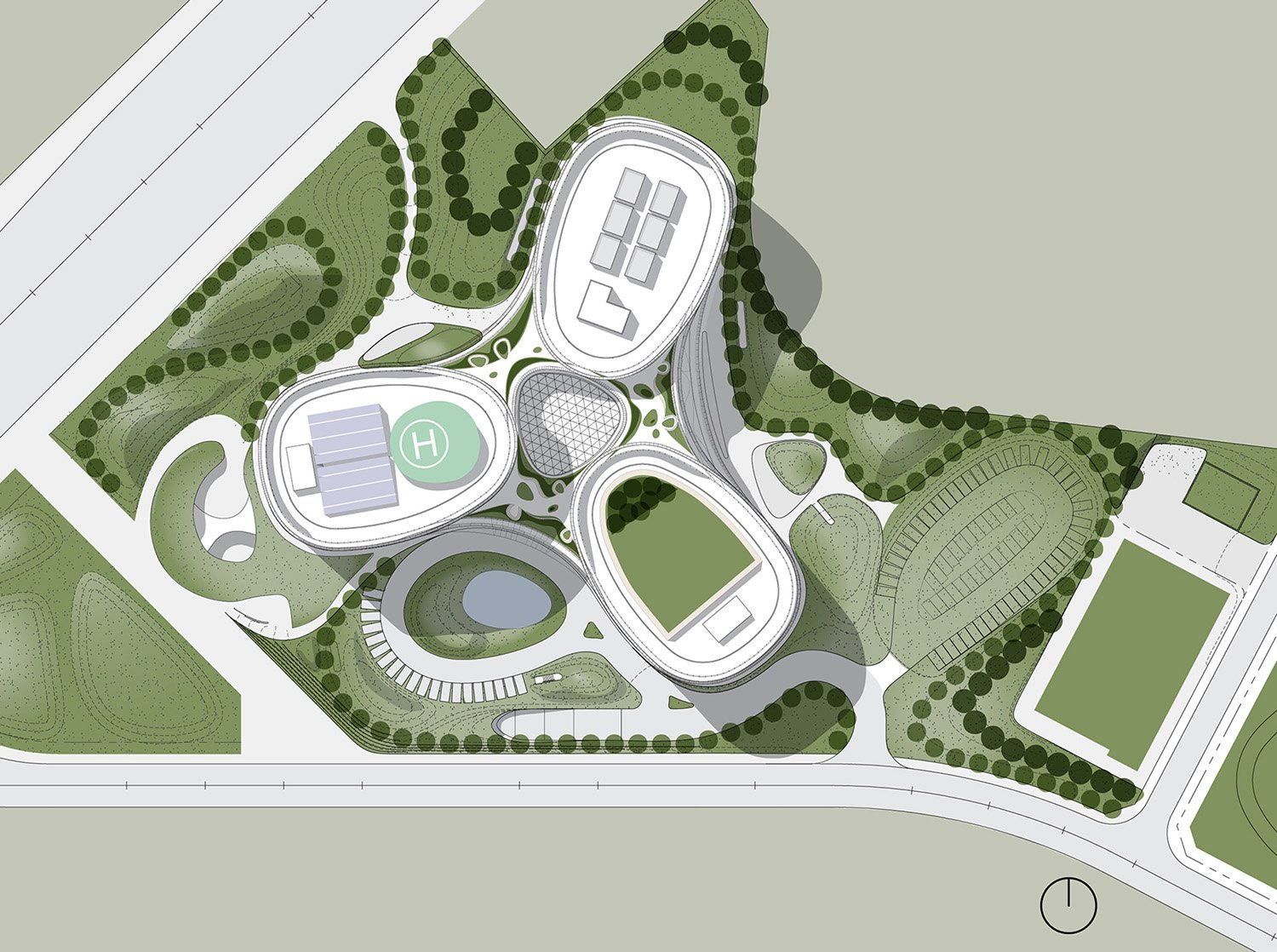 Site Plan Yazdani Studio of CannonDesign}