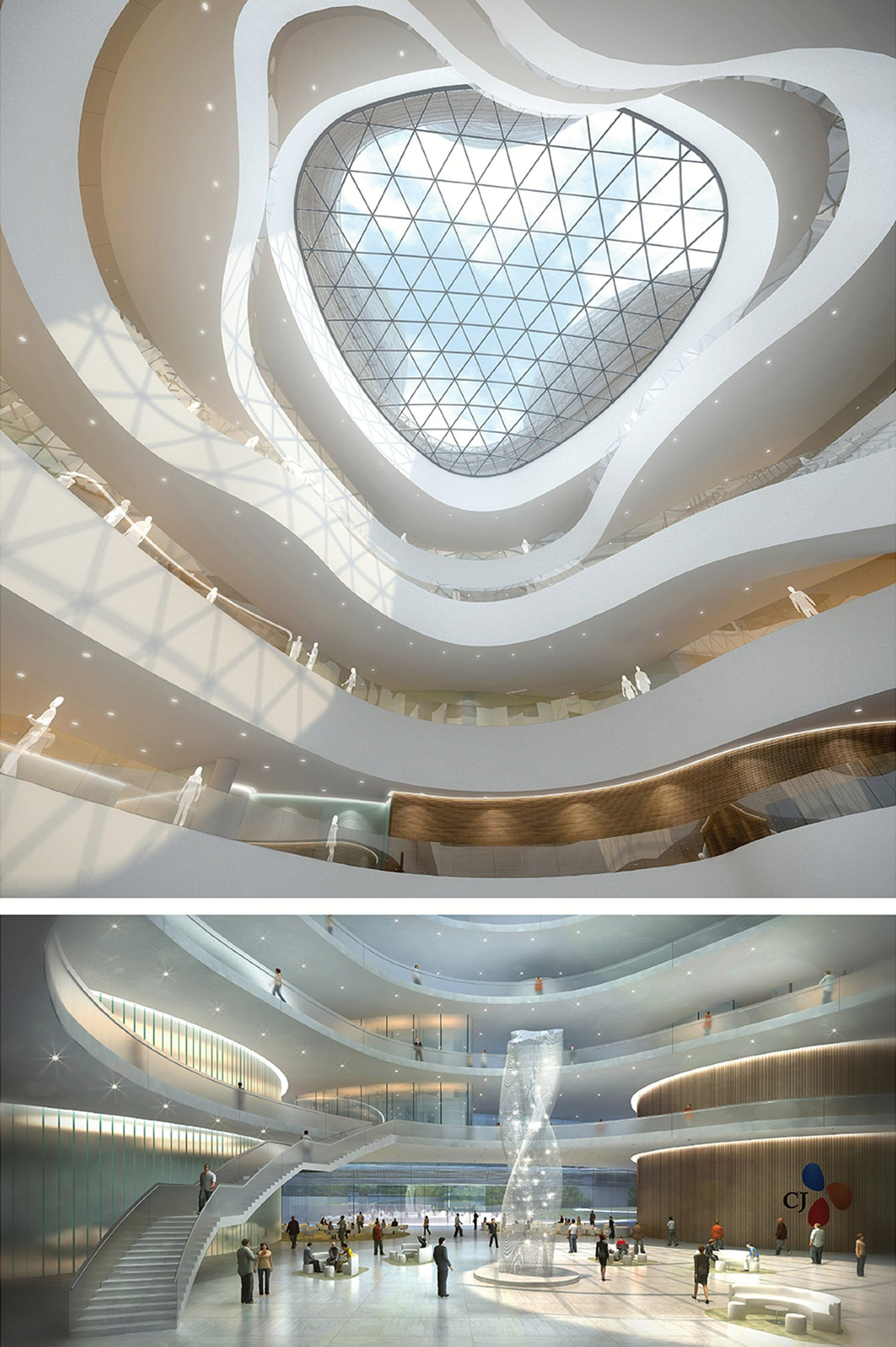 Atrium Renderings Yazdani Studio of CannonDesign}