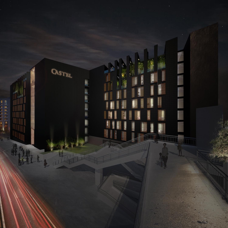 vista notturna Westway Architects}