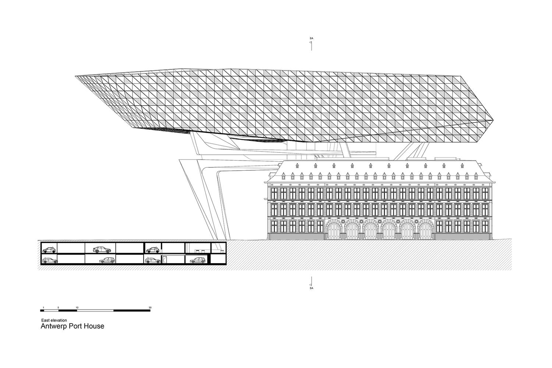 East Elevation Zaha Hadid Architects}