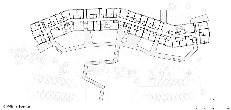 Floor plan - first-floor  Möhn + Bouman}