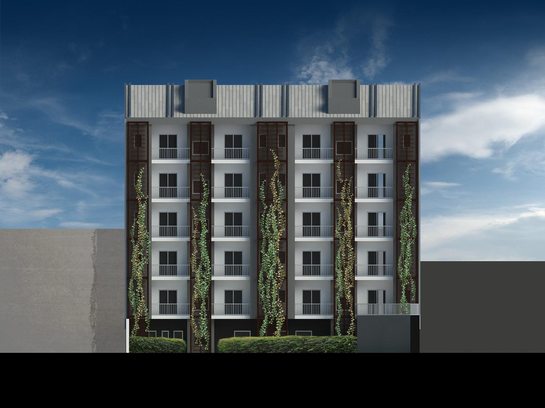 Vista di un prospetto sul cortile - progetto Mei e Pilia Ingegneri Associati