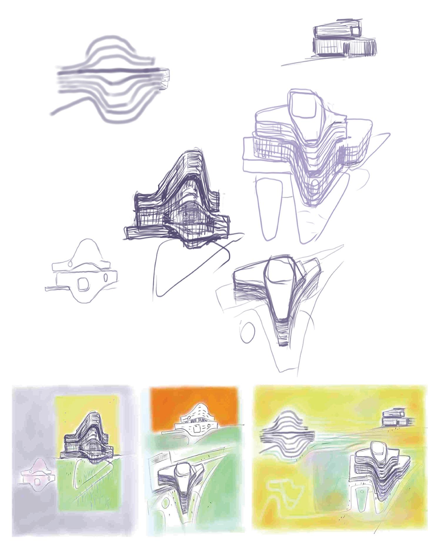 Concept Sketches Yazdani Studio of CannonDesign}