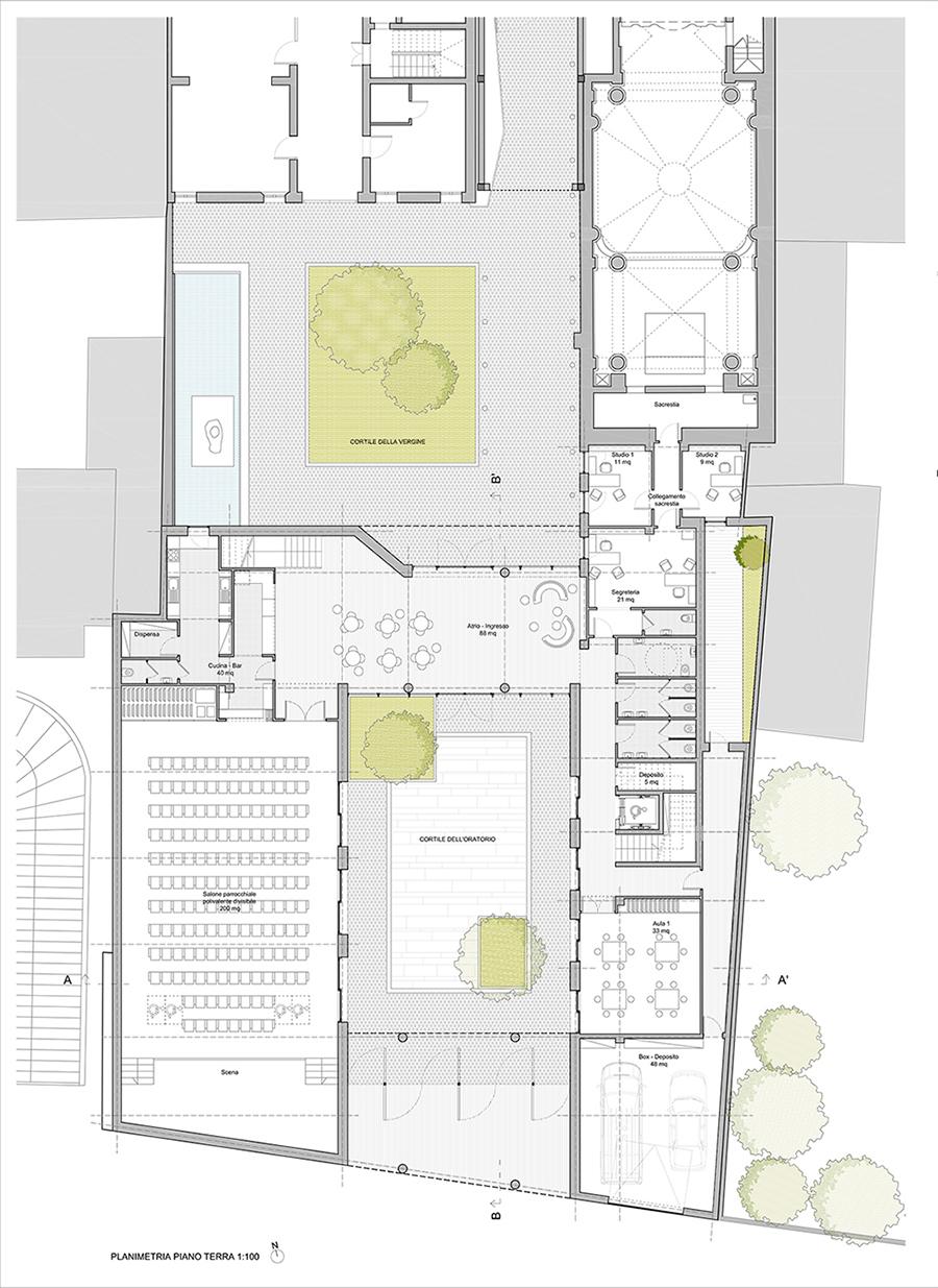 pianta piano terra © MAB Arquitectura}
