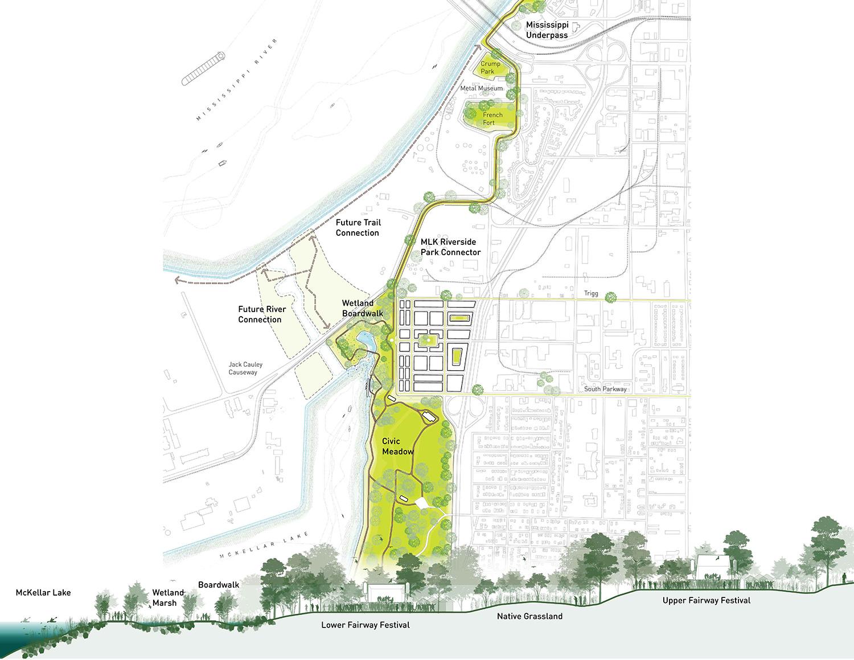 MLK Park Plan and Elevation (c) Studio Gang}