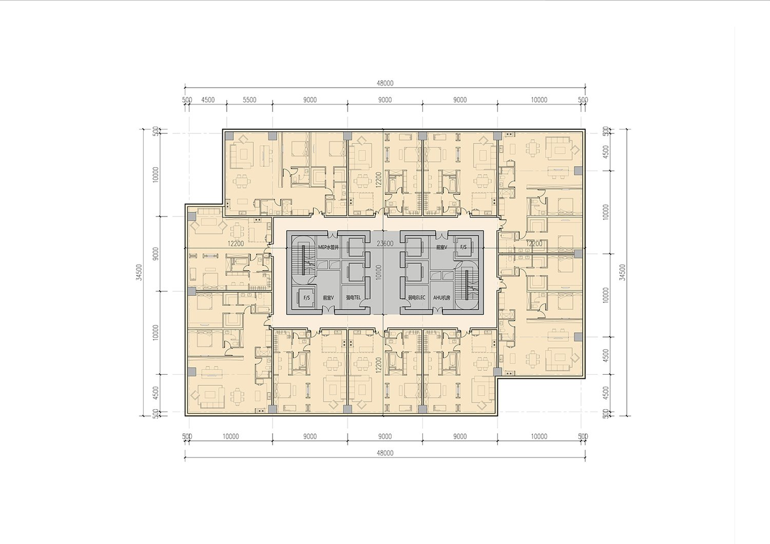 Typical Tower Apartment Floor Plan EID Architecture}